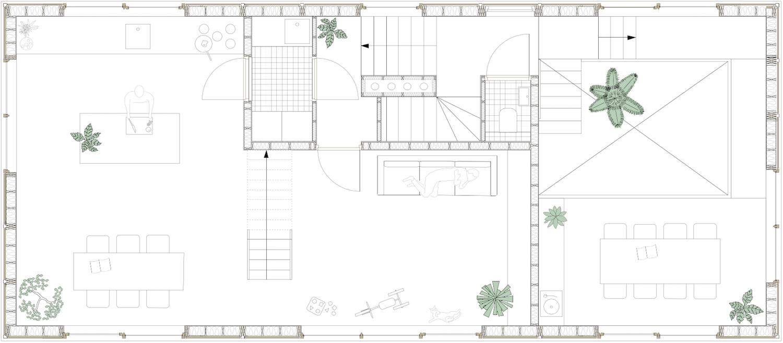 Tatami House upper floor plan