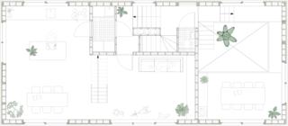 Tatami House upper-level floor plan.