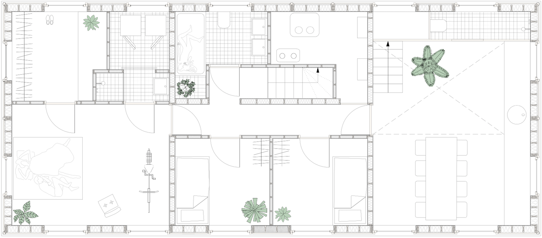 Tatami House lower level floor plan