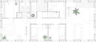 Tatami House lower-level floor plan.