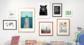 Tens of thousands of artists are represented on Society6, a site that offers original art for a variety of products from prints to t-shirts.