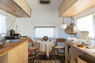 The Merchant on the Road Airstream interior was curated by the mother/daughter duo of Merchant Modern.