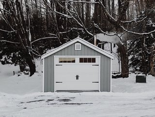 The couple plan to paint the entire Livingstone Farm prefab garage a crisp shade of white.