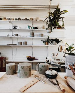 After nearly a year of being away from her craft with clay, Natasha has returned to creating ceramics thanks to the recent completion of the pottery studio.
