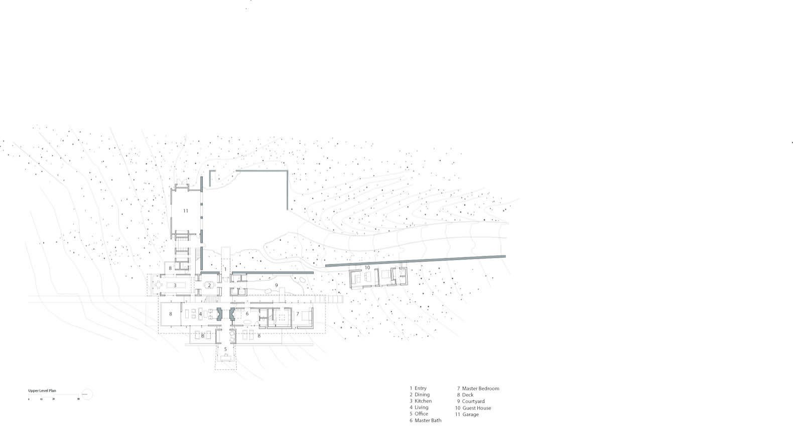 Here is the upper-level floor plan.     Photo 17 of 17 in A Modern House Accentuates a Sensational Wyoming Landscape