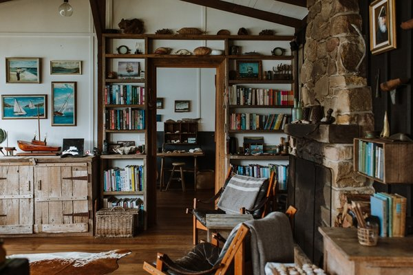 The shack is decorated with found and secondhand treasures from around the world. If the couple couldn't find an item secondhand, they decided to make it themselves.