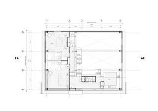 The Wood House upper floor plan.