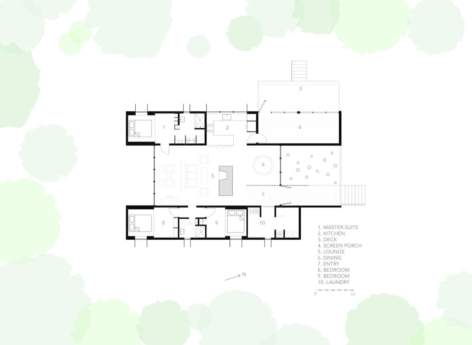 A closer look at the Week'nder floor plan.    Photo 15 of 15 in This Prefab Cabin Offers an Affordable Answer to Island Construction