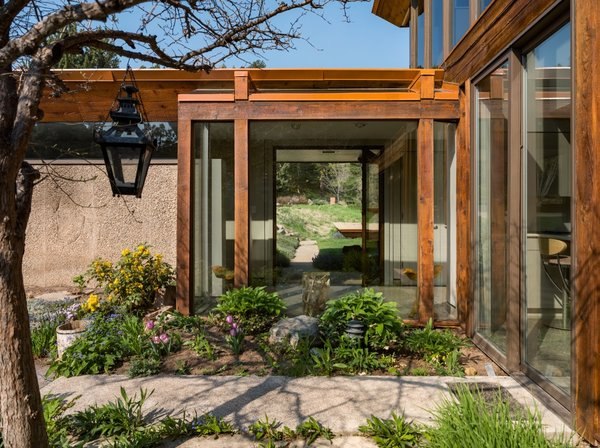 A look at the rear patio gardens.