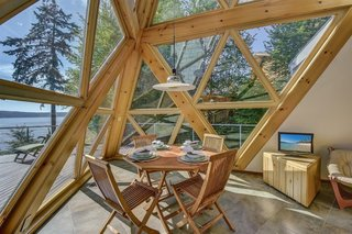 A Tetrahedron Cabin With Stellar Seaside Views Is Listed For $695K