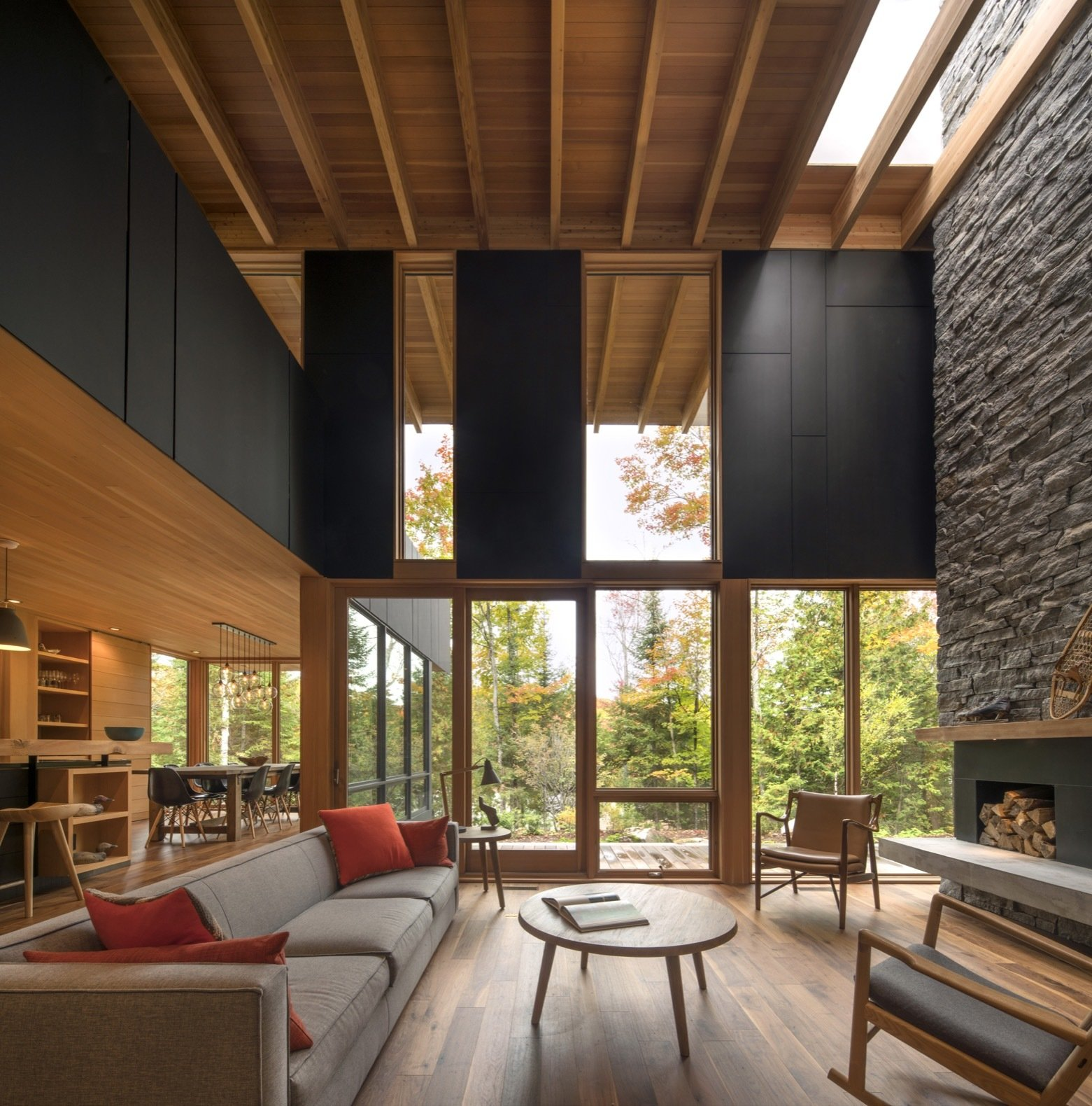 Bear Stand Residence living room with fireplace