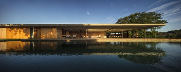 A large pool sits on the southwest side of the Planar House.