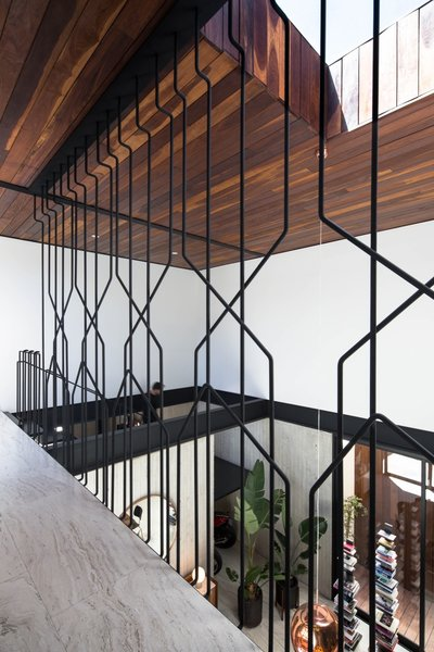 Instead Of A Simple Railing, Gracia Has Installed A Sculptural Metal Screen  That Lets Views