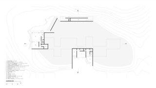 A look at Casa Terra's lower-level floor plan.