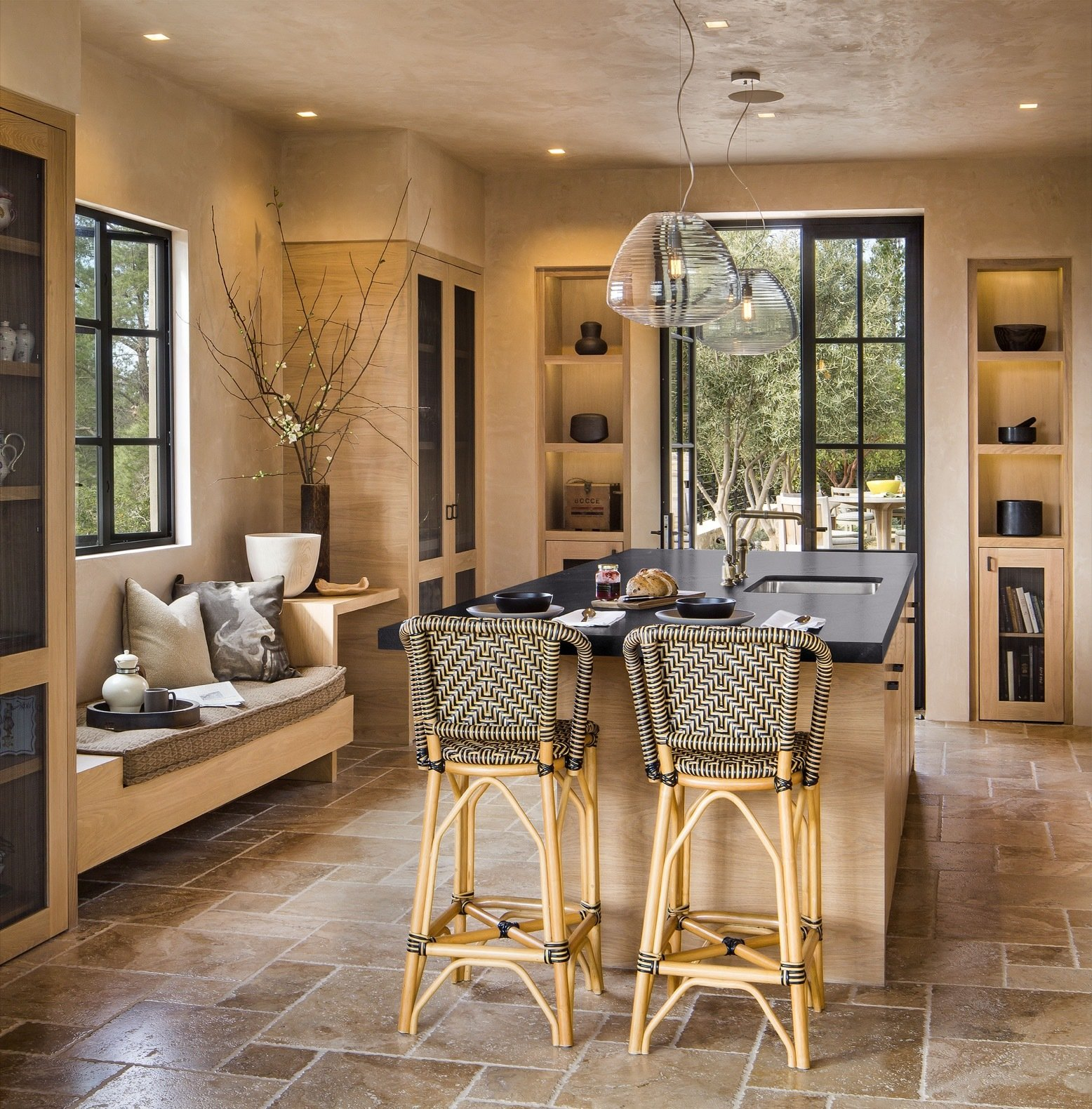 Undermount Lighting For Kitchen Cabinets: Photo 12 Of 15 In Glass And Stone Combine To Dazzling