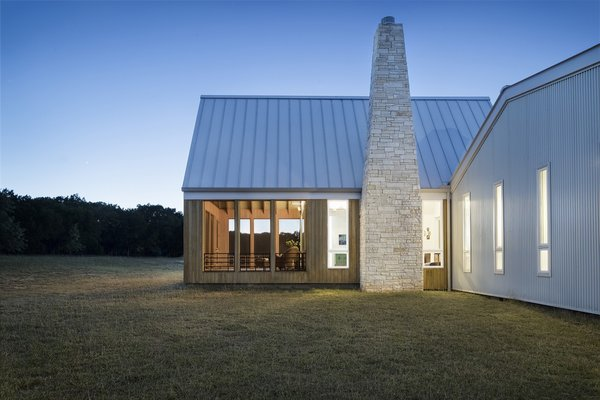 The screen porch extends out from the living room into the heart of the home.