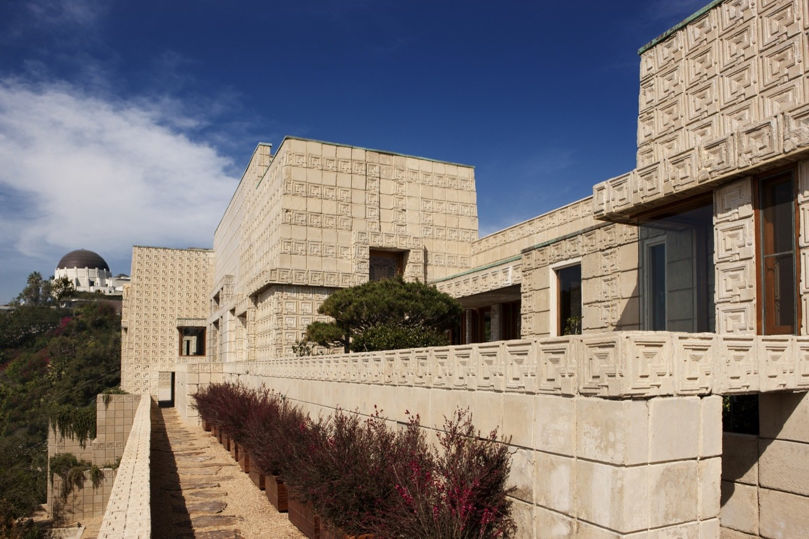 Exterior, House Building Type, and Concrete Siding Material The home is arguably the nation's best residential example of Mayan Revival architecture.   Photo 2 of 23 in Frank Lloyd Wright's Iconic Ennis House Is Listed For $23M
