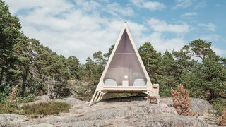Designed by Helsinki–based designer Robin Falck for energy company Neste's Journey to Zero campaign, the Nolla Cabin champions zero-waste and simple living with its minimalist, eco-friendly build.