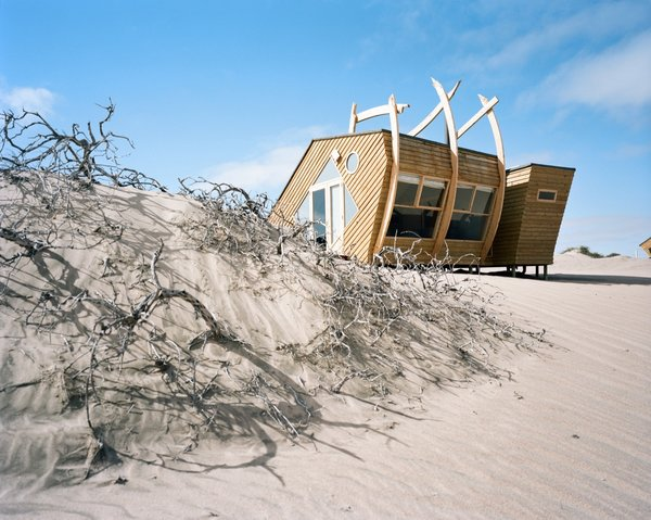 Explore Namibia's Haunting Coast With These Luxe Prefab Cabins