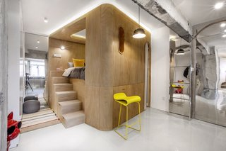 Rotated Volumes Cleverly Maximize Space in a Tiny Shanghai Apartment