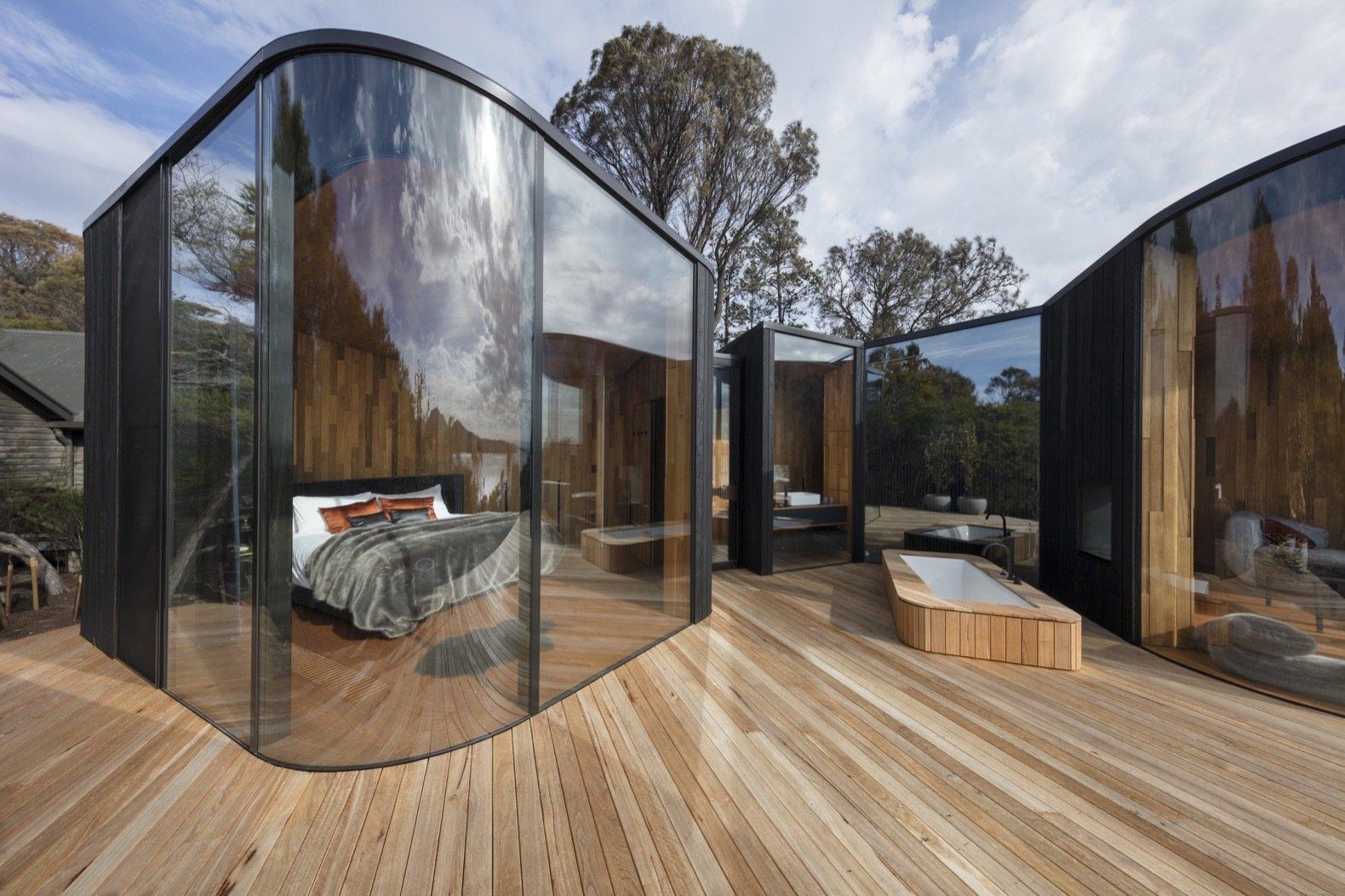 Freycinet Lodge Coastal Pavilions Tasmania prefab hotel
