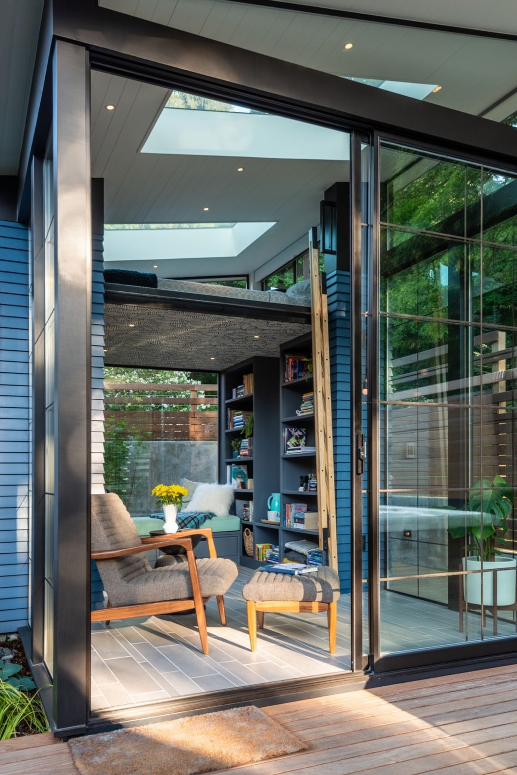 Doors, Sliding Door Type, Exterior, And Metal Walls Of Glass And Large  Skylights