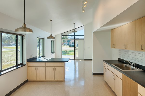 High-performance windows let in plenty of natural light while air conditioning keeps the home cool.