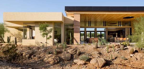 Rammed Earth Walls Tie This Eco Friendly Home To The Desert