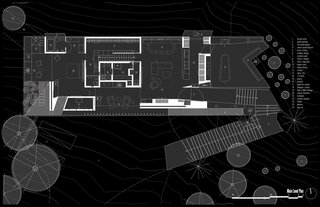 Hidden Valley Desert House Main-Level Floor Plan