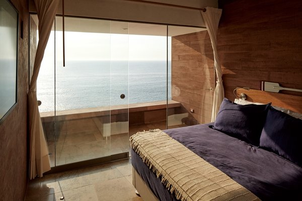 All four bedrooms overlook the Pacific Ocean.