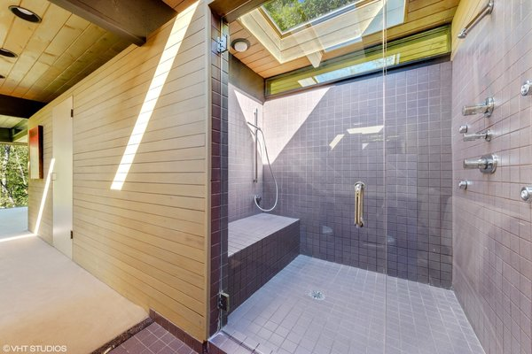 The spa-like master bath is bathed in natural light.