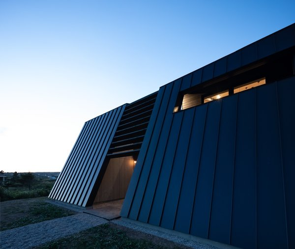 """""""Both the deep-set windows and the brise soleil, in addition to the back canted wall, help to control solar gain."""""""