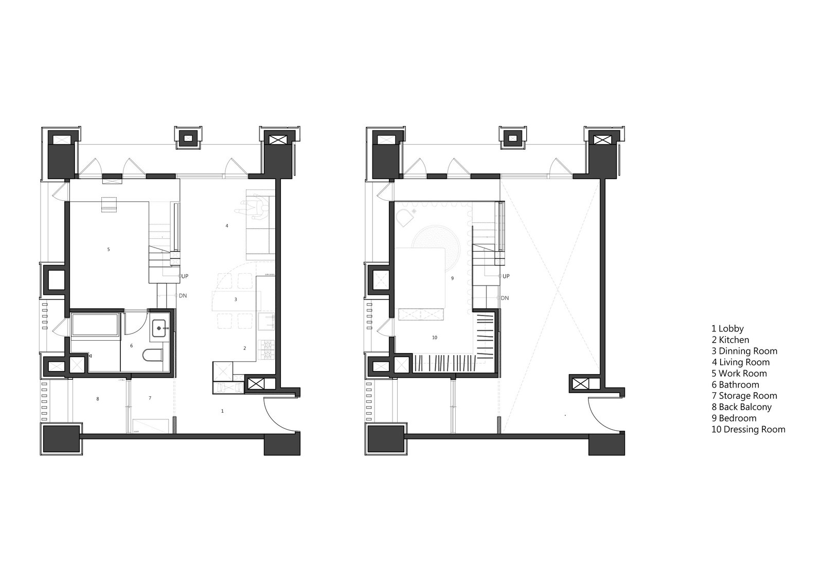 Apartment X floor plan.  Photo 12 of 12 in A Tiny Apartment Transforms Into a Stylish, Space-Saving Bachelor Pad For $84K