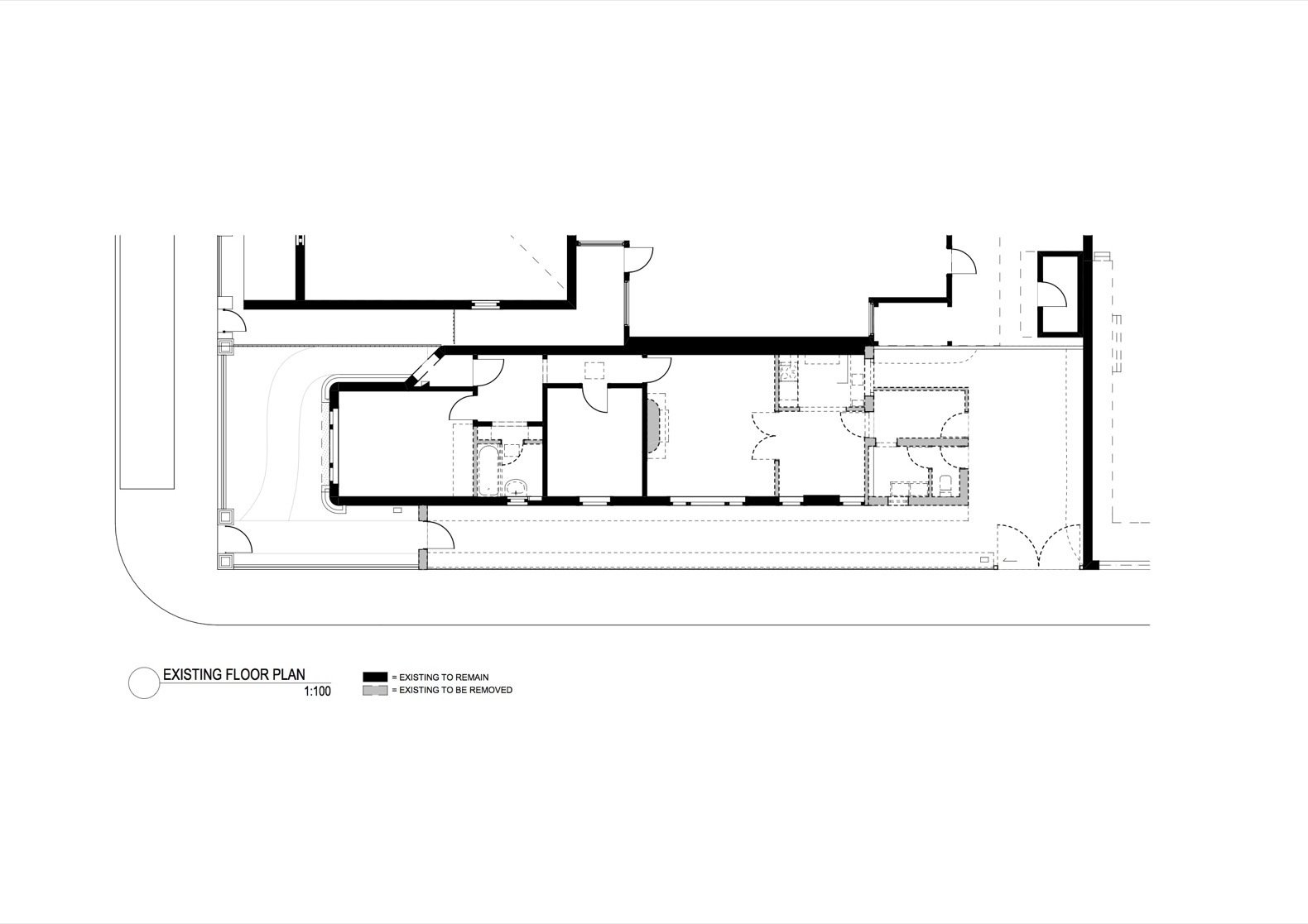 The Shadow House existing floor plan  Photo 14 of 16 in An Art Deco Dwelling Receives a Sleek, Contemporary Extension