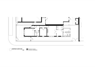 The Shadow House existing floor plan