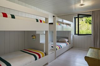 Built for multigenerational use, the Peconic House also includes a four-person bunk room on the lower floor.
