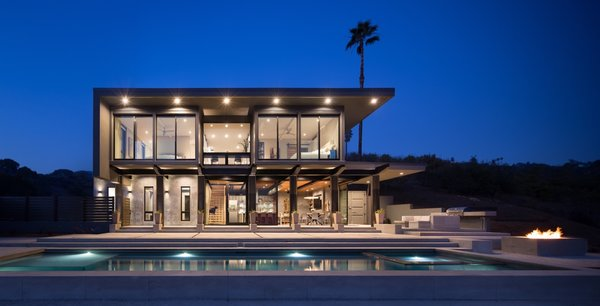 Recently featured in the pages of Dwell Magazine, this contemporary home is built from five reclaimed shipping containers and is set into a lush Santa Barbara hillside.