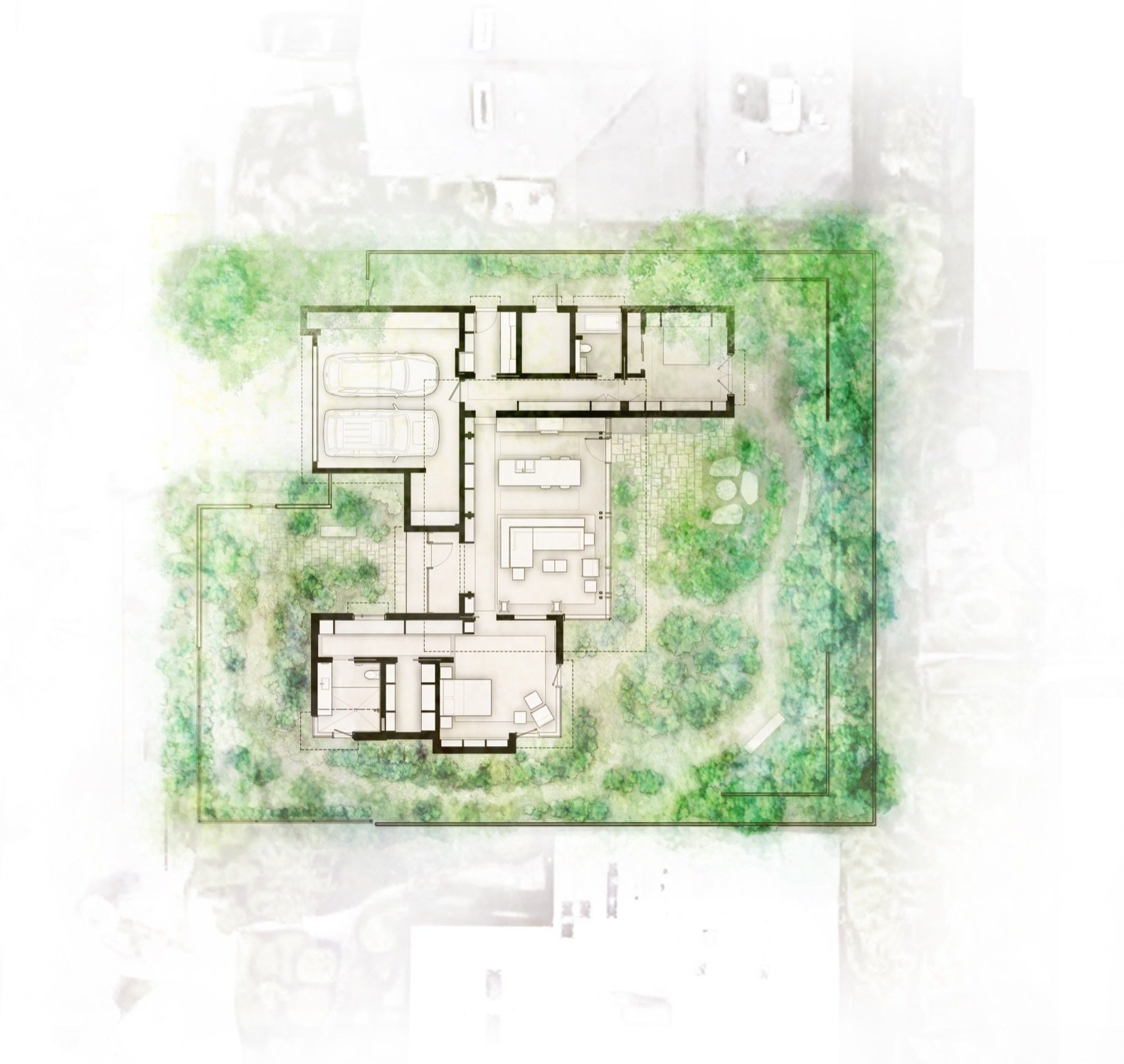 City Cabin floor plan  Photo 13 of 13 in Immersed in Nature, This City Cabin Targets Net-Zero Energy
