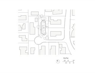 Roofless House site plan