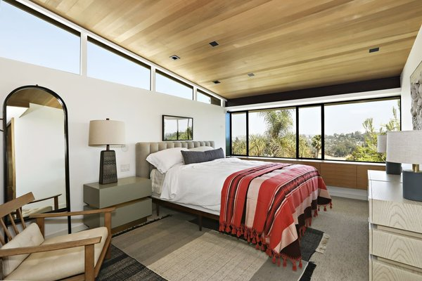 A peek inside the master bedroom, also located upstairs.