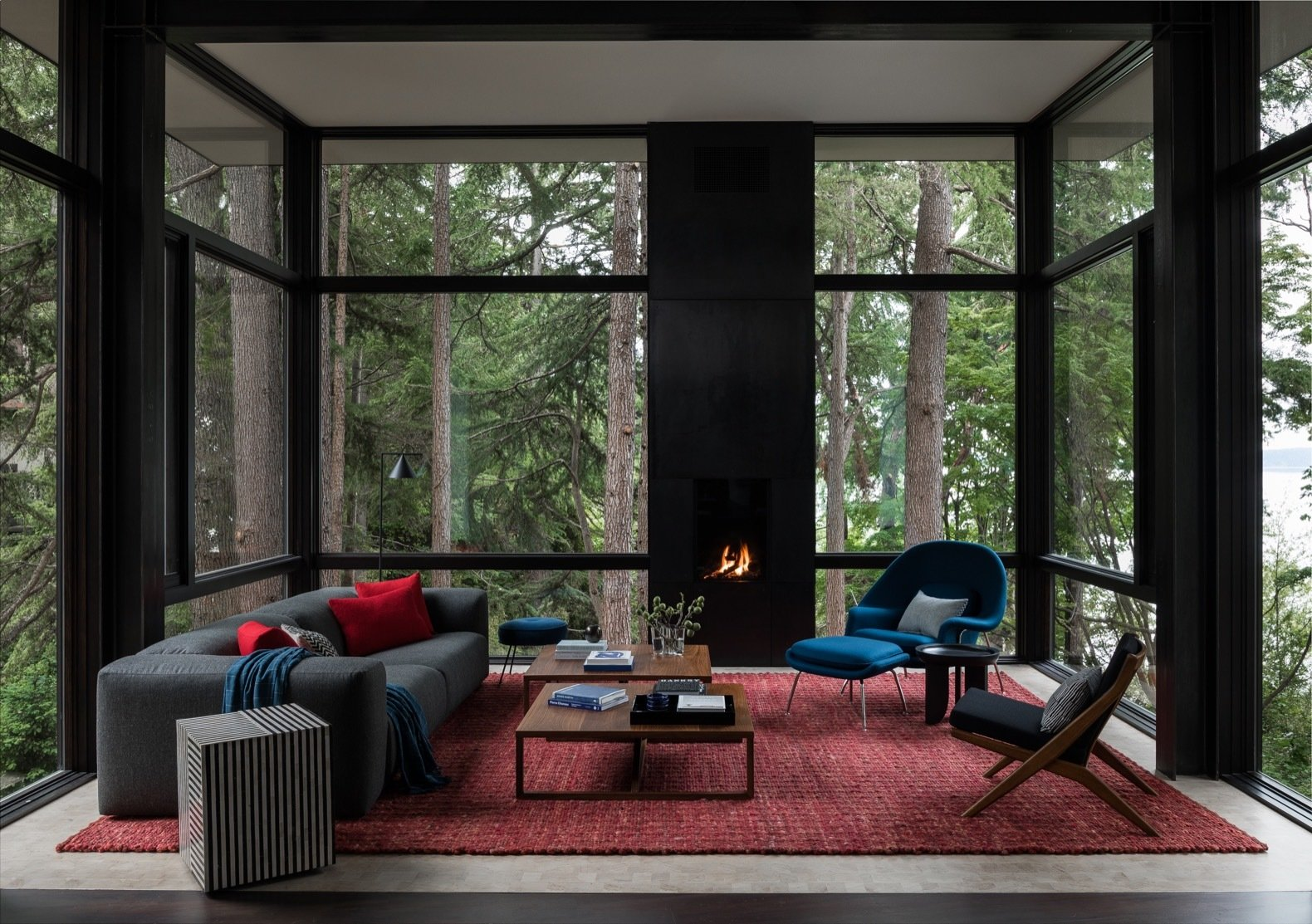 DeForest Architects Tree House living room