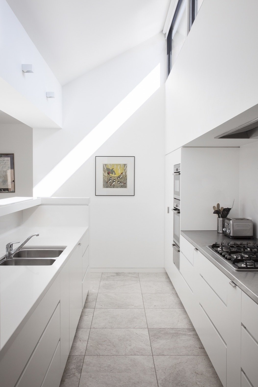 Humble House white Caesarstone kitchen