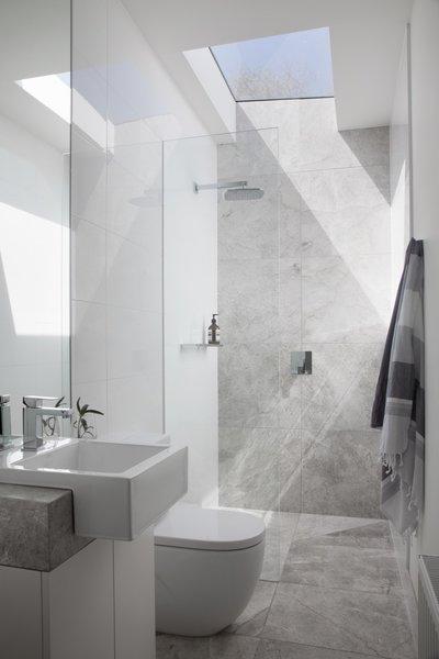 modern shower head recessed bathroom lighting bathroom vanity the lightfilled ensuite bathroom includes nickles showerhead and mizu taps best modern bathroom enclosed showers design photos and ideas dwell