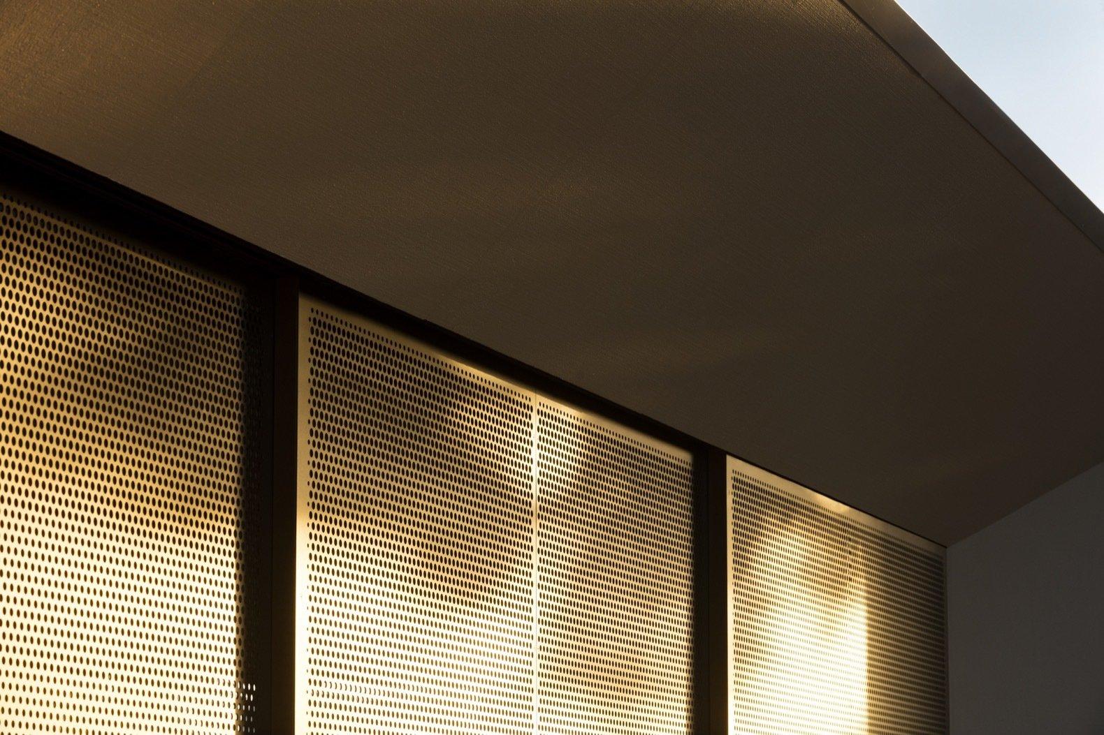 Platform House bronze perforated screens