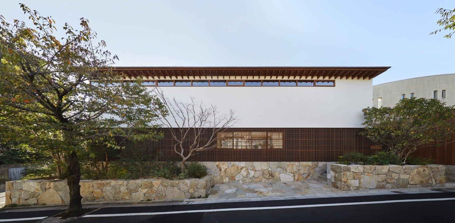 Lath house facade