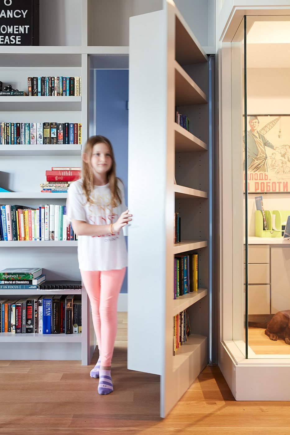 Megacabinet House hidden room behind bookshelf