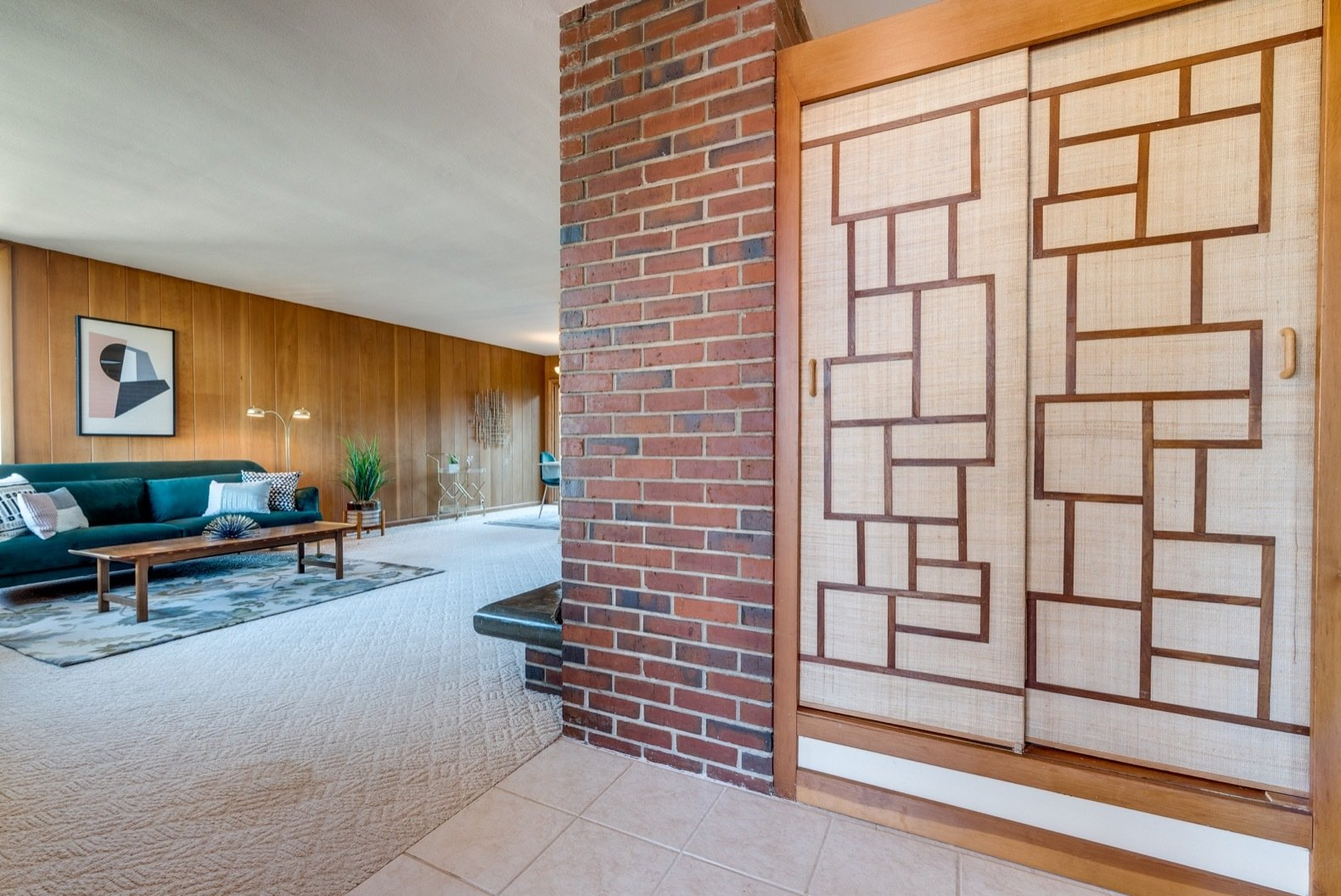 A Frank Lloyd Wright-Inspired Midcentury Home Hits the Market For $595K