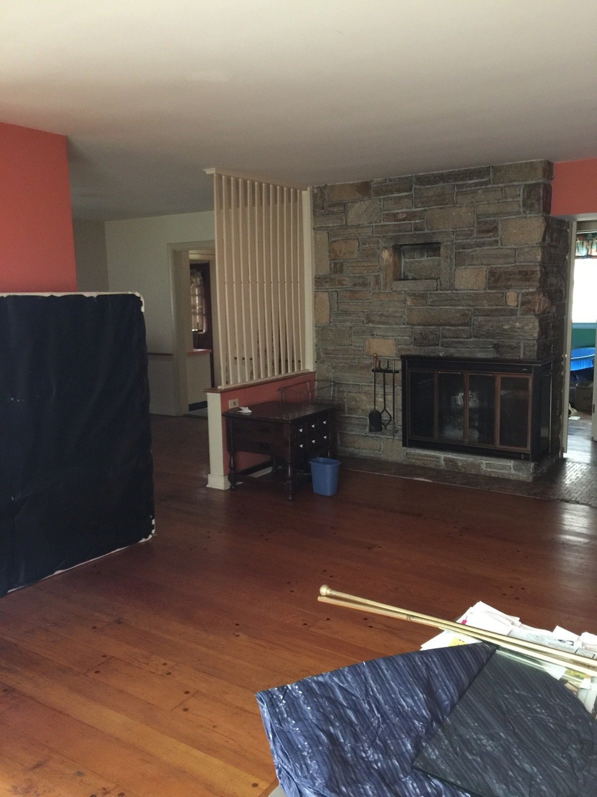 Before: Louise Avenue fireplace