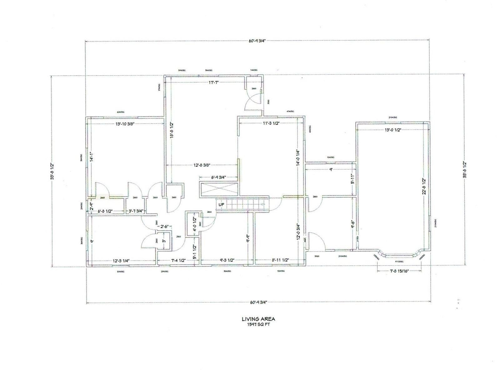 Louise Avenue original floor plan