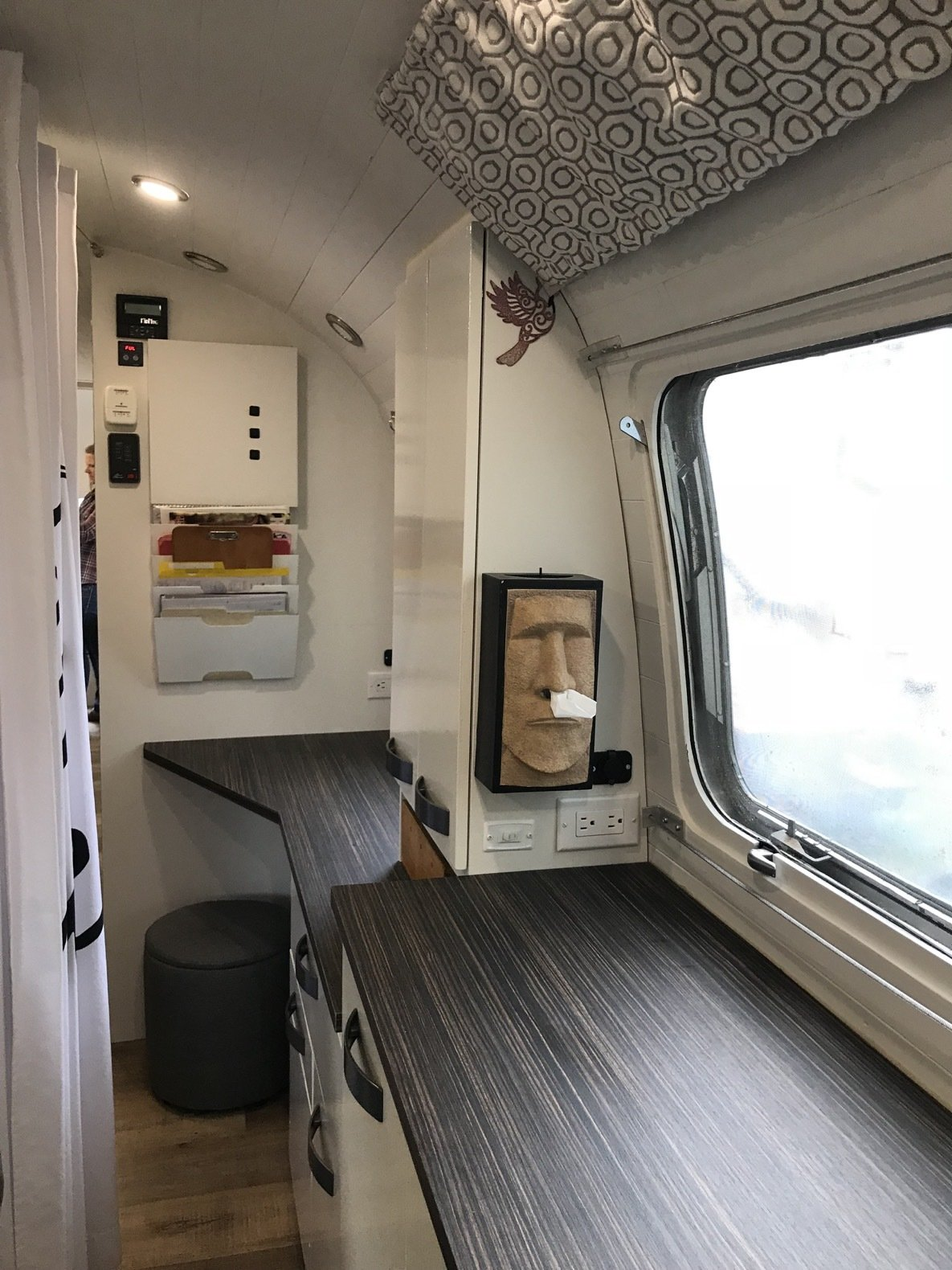 Peanut Airstream Land Yacht office